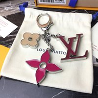 Wholesale quality brand designer jewelry resale online - 2020 Designer Keychain Fashion New Brand Keyring For Women High Quality Key Chain Trinket Jewelry Gift Souvenirs with box Free S