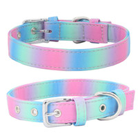 Wholesale boy dog collars resale online - Personalised Dog Collar Pet Custom Engraved Name ID Tag For Boy Girl Dogs S M L