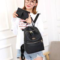 Wholesale female schoolbag resale online - Casual Backpack Women Shoulder Bags Student Schoolbag For Teenage Travel Bag Multi Pocket School Pack For Girls Female College bbymBW