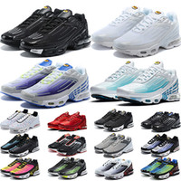 ingrosso usa scarpe-Nike Air Max TN Plus 3 Scarpe da corsa Uomo Donna Northern Southern Lights Sea Forest Carbon Grigio Bianco Nero Rosso Giallo Outdoor Trainer Sport Sneakers Vendita online