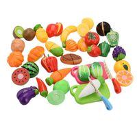 Wholesale fruit vegetable set cut toys resale online - New Food Fruit Vegetable Cutting Pretend Play Toy Children Kitchen Toys Sets Fruit Vegetable Food Toy For Child Education wmtojP hwjh