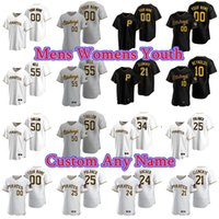 Wholesale clay s for sale - Group buy Baseball Jerseys Womens Michael Feliz Jersey Steven Brault Nick Burd Kyle Crick Geoff Hartlieb Clay Holmes Sam Howard Black Custom Stitched