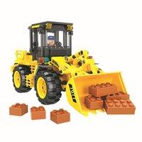 Wholesale loader resale online - 7077 City Construction Team Loader Building Blocks Sets Bricks Diy Model Educational Kids Christmas Gifts Toys For Children bbyKJO homebag