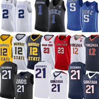 NCAA Anthony Edwards James Wiseman LaMelo Ball Deni Avdija Killian Hayes Tyrese Haliburton Obi Toppin Basketball Jerseys