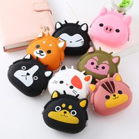 Wholesale Silicone Coin Purse Animals printed cartoon Small Change Wallet Mini storage Coin Bag For Girls Boys Children Kids party Gifts favor FFA4500