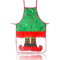 Wholesale santa claus apron resale online - Christmas Decorations for Home Santa Claus Christmas Apron Xmas Decor New Year Christmas Gift cm cm HHB2362