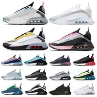 sapatos limpos venda por atacado-Nike air max 2090 airmax react  New Airmax Air Max 2090 Men Women corriendo Shoes Pure Platinum 90 Clean White Speed Yellow Pink Mens Chaussures sports sneakers