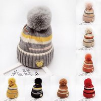Wholesale cartoon earflap baby hat for sale - Group buy baby hat Winter Newborn Girl Boy Baby Infant Winter Warm Cartoon Earflap Knit Crochet Beanie Hat newborn photography props