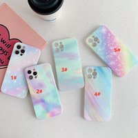 Wholesale colour iphone online – custom Seven colour glitter Pink marble pattern Stitching phone case For iPhone mini iphone pro max iphone xr xs max Plus cases