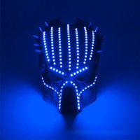 Wholesale predator movie mask for sale - Group buy hot sell Halloween Face Mask colors predator luminous led mask V movie theme cosplay props Designer Face Masks BWD2323