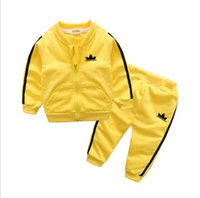 Wholesale spring suits for boys resale online - Baby Boys And Girls New Style Children s Clothing For Boys And Girls Sports Suit Baby Infant Short Sleeve Clothes Kids Set