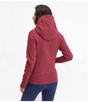 Wholesale women winter fashion canada resale online - fashion canada women sport yoga hoody jacket winter coat slim fit good thick hoody zip up hooded
