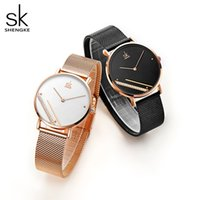 Wholesale simple hot watches for sale - Group buy Hot sale Shengke Montre Femme New Luxury Ladies Watch Fashion Simple Watches Womes Crystal Dial Quartz Watch Women Clock Relogio Feminino