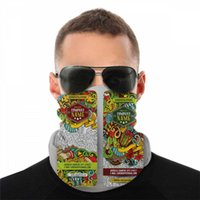 Wholesale new paisley design bandana resale online - Christmas Paisley Football Design Magic Anti UV Bandana Cartoon Doodles New Year Neck Face Headscarves Sport Magic Bib Headband