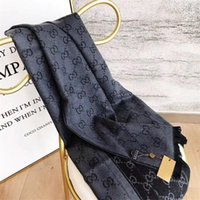 Wholesale big scarves women resale online - brand wool silk cashmere fashion Womens scarf Big SizeScarves Lettrt pattern design Scarf for women Thick L V Shawl
