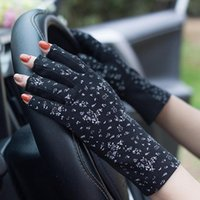 Wholesale hot fingers mittens for sale - Group buy Hot Screen UV Women Non Anti slip Glove Thin Protection Gloves Glove Riding Lady Finger Half Touch Breathable Mittens Slip Sun