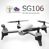 Wholesale SG106 RC Drone Toys With P k HD Dual G FPV WiFi Wide angle camera Gravity Sensing Real Time Transmission Quadcopter