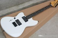 Wholesale left handed white guitar for sale - Group buy Left Handed White Electric Guitar With Rosewood Fingerboard Black Hardware P90 Pickups Offering Customized Services