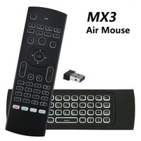 Remote Controlers MX3 Backlit Air Mouse T3 Smart Voice Control MX3L 2.4G IR Learning Wireless Keyboard For Android TV Box1