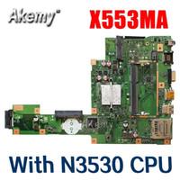 Wholesale New Amazoon X553MA With N3530 CPU mainboard REV2 For Asus F503M X503M F553MA X503MA D503M Laptop motherboard MAIN BOARD