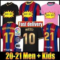 Wholesale football jerseys cotton resale online - 20 soccer jersey football shirt camiseta de fútbol maillot de foot Men and KIDS football jersey