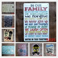 Wholesale holiday paintings resale online - English Poetry Romantic Sign Vintage Tin Signs Home Decoration Bar English Poetry Metal Craft Gifts Poster Iron Painting EWB1323