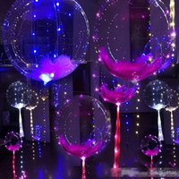 Wholesale clear wire led lights for sale - Group buy Creative Inch Air Balloon With Lights String Copper Wire PVC Balloons LED Light Up Transparent Airballoon Fashion B R