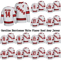 Wholesale hockey player resale online - Carolina Hurricanes White Player Road Away Jersey Williams Staal Aho Teravainen Custom Any Name Any Number Hockey Jerseys