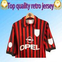 Wholesale kaka milan jersey for sale - Group buy 99 Retro shirts home Gullit SOCCER JERSEY Maldini Van Basten football RONALDO KAKA Inzaghi AC MILAN SHEVCHENKO