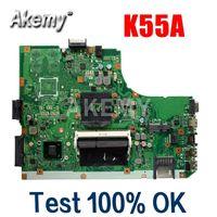 Wholesale Amazoon K55A Laptop motherboard For Asus K55A A55V K55VD K55V K55 Test original mainboard GM