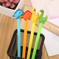 Wholesale promotional office supplies for sale - Group buy Cartoon Creative Dinosaur Gel Pen Kawaii Promotional Gift Silicone Stationery Pen Student School Office Supply CCD2075