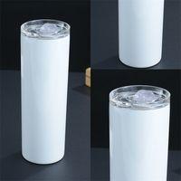 20oz Stainless Steel Cup Heat Transfer Sublimation Blanks Tumbler Fall Resistant Wear Resisting Coffee Mug Drink Skinny Hot Sale 13ym F2