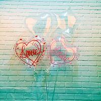 Wholesale 18 Inch Love Heart Transparent Aluminum Film Balloon Wave Ball Heart Shaped Love Wedding Wedding Party Ballons Decoration qylSQV bdetrade