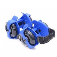 Wholesale kids roller skates resale online - Adult Kids Flashing Roller Whirlwind Pulley Flash Wheels Heel Roller Adjustable Simply Roller Skating Shoes wmtHdo otsweet