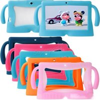 Wholesale cheapest tablet resale online - For Inch Q88 Character Tablet Case Kids Soft Silicone Rubber Gel Tablet PC Case Colorful Cover DHL Freeshipping Cheapest