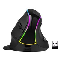Wholesale mouse ergonomics for sale - Group buy Ergonomics Vertical Mouse Wireless Gaming Mouse Rechargeable Rgb Led Backlit Hand Mice for Computer