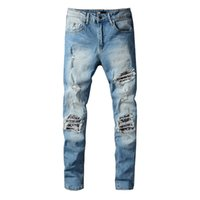 New Stryle Summer Mens Jeans Vlss Casual Brand Designers Design White Slim Fashion Able Motorcycle Trousers Pants Size 29-40
