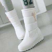 Wholesale platform warm snow boots resale online - Sale Big Size Skidproof Rubber Sole Platform Walking Winter Keep Warm Plush Snow Boots Shoes Women Crystals Calf
