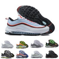 Wholesale silver games resale online - 97 Running Shoes Mens Jesus Triple Black Bullet Blue White Silver s USA Undefeated Trainers Bred Game Royal Sneakers