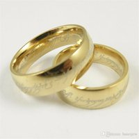 Wholesale movies rings for sale - Group buy Stainless Steel Rings Movie The One Steel gold Ring MM Wedding Men s Finger Rings