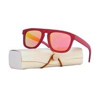 Wholesale wooden eyeglass frames for men for sale - Group buy Vintage Polarized Red sunglasses women bamboo frame sun glasses men Wooden Case Beach Anti UV eyeglasses for Driving