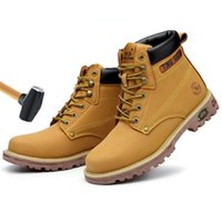 Wholesale classic shoes work man for sale - Group buy Winter Work Boot Anti puncture Steel Toe Men Safety Shoes Yellow Classic Combat Ankle Boots Male Y200915