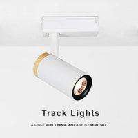 Wholesale ship railings resale online - W W Focus Lamp Retail Spot Lighting Fixtures Surface Mounted Spotlights Linear Magnetic Rail COB Led Track Light