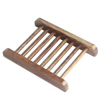 Natural Wooden Soap Dish Tray Holder Storage Soap Rack Plate Box Container for Bath Shower Plate Bathroom Supplies Soap Dishes DBC BH4221