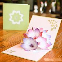 Wholesale free happy birthday card for sale - Group buy 3D pop up cards happy birthday decorations flower Valentine s Day Gift Cards Greeting Cards