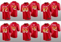 Wholesale pro bowl for sale - Group buy Kansas City Chiefs Men Tyreek Hill Travis Kelce Dee Ford Custom Women Youth AFC Game Red Jersey Pro Bowl