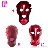 Wholesale slaves hood for sale - Group buy Erotic YUELV Style Light For Mask Leather Bondage Hood Fetish Slave Couples Mask Harness Sex Toys Patent Head Game Adult Sexy Product Utjl