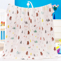Wholesale bedding bath resale online - Baby Blankets Muslin Gauze Children Towel Large Baby Swaddling Wrap Baby Bath Towels Nursery Bedding Sheet Designs KKA1635