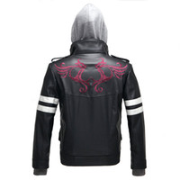 New Game Prototype Alex Mercer Cosplay Costume Embroidered Jacket PU Leather Coat Carnival Halloween Costumes for Men M-4XL