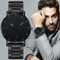 Wholesale free dhl buckle belt for sale - Group buy DHL Minimalist Men s Fashion Ultra Thin Watches Simple Men Business Stainless Steel Mesh Belt Quartz Watch Relogio Masculino